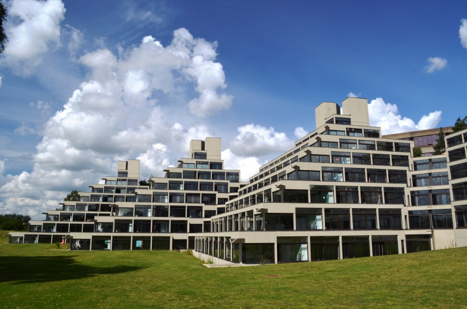 my favourite building  the uea ziggurats