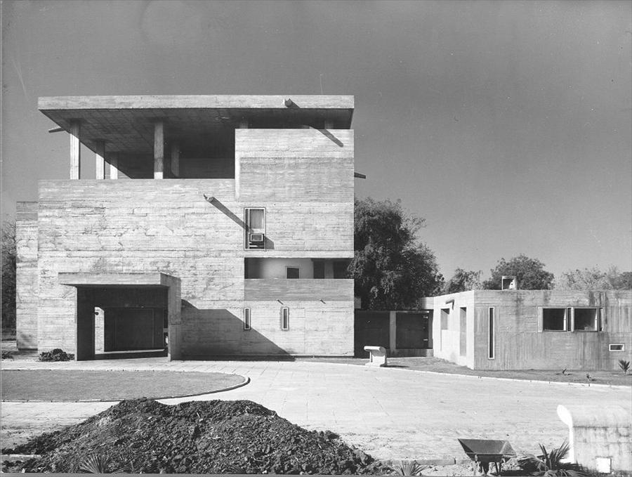 house of the day villa shodhan by le corbusier journal the modern house. Black Bedroom Furniture Sets. Home Design Ideas