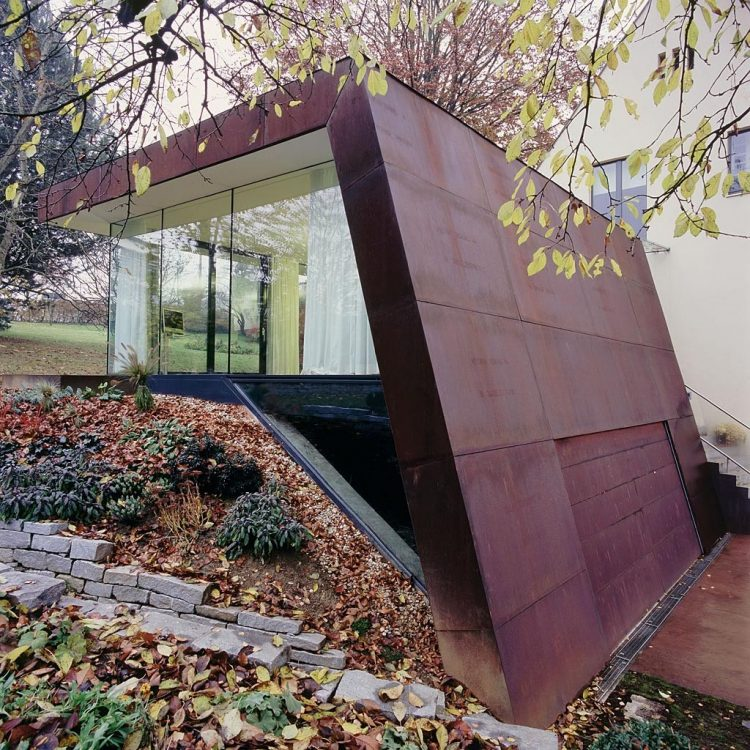 Folded Corten House, The Modern House