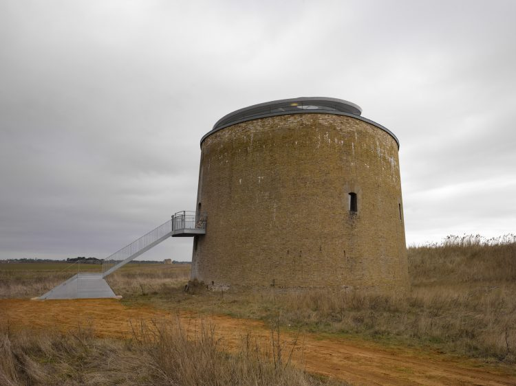 MARTELLO TOWER Y, SUFFOLK, PIERCY CONNER , 2010 , - SIDE VIEW IN AFTERNOON