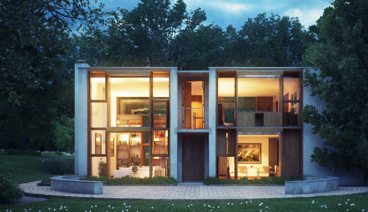 Esherick House, Louis Kahn, The Modern House