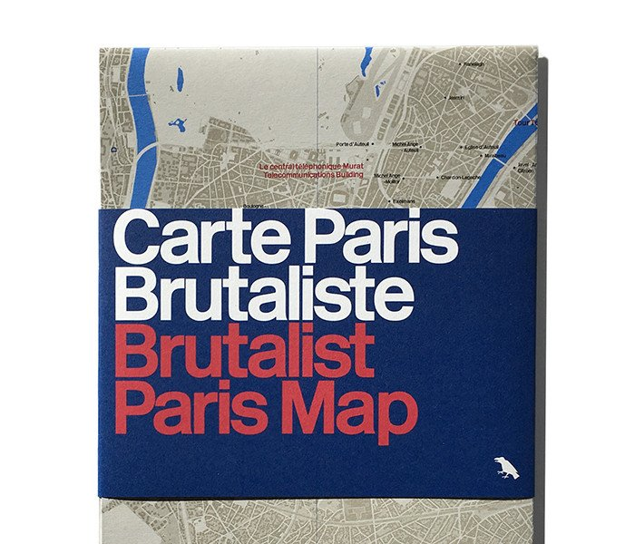 Brutalist Paris Map, Blue Crow Media