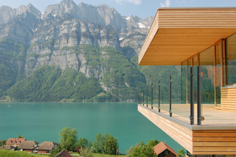 House Of The Day Walensee House By Km Architektur Journal