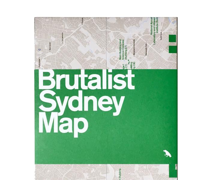 Brutalist Sydney Map