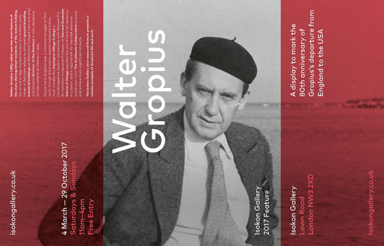 What we're Seeing: Walter Gropius at The Isokon Gallery