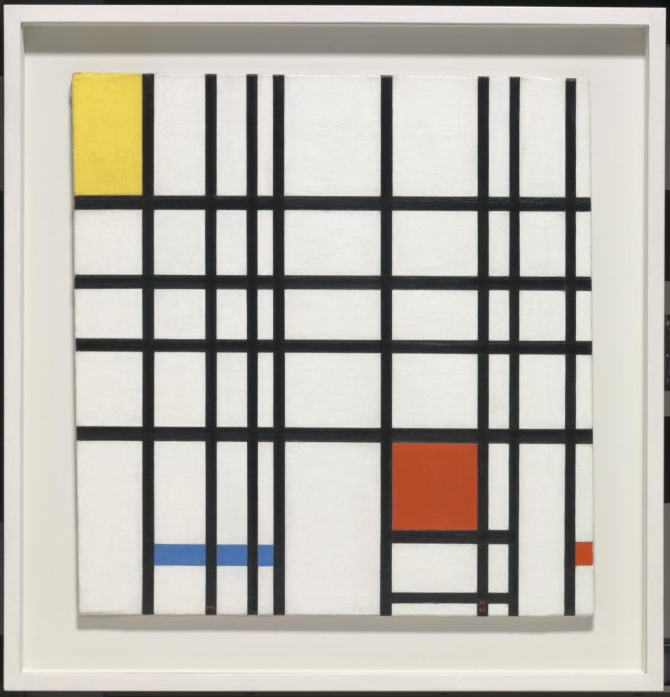 Composition with Yellow, Blue and Red 1937-42 by Piet Mondrian 1872-1944