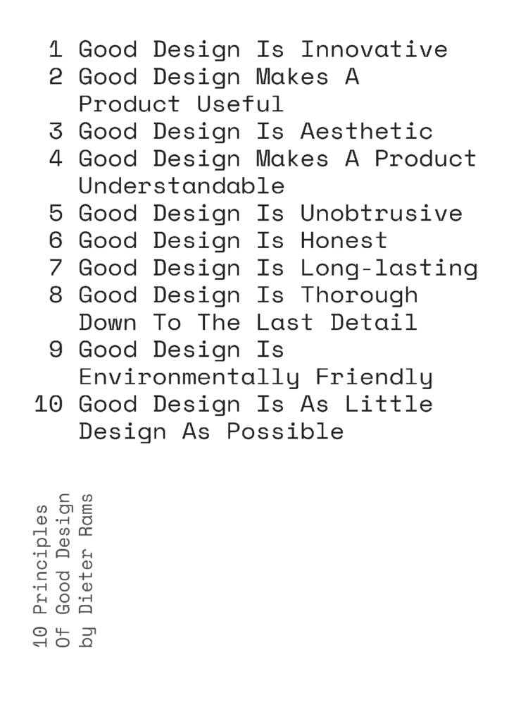 Design Manifestos: philosophies and principles for good design