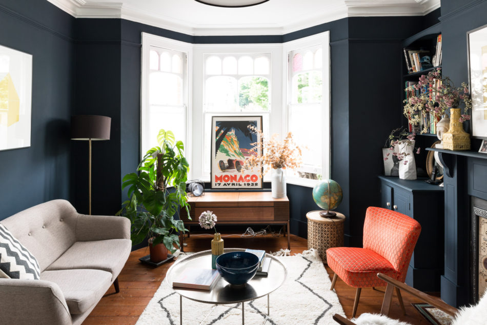 Dramatic home design how to decorate with dark colours - How to decorate my home ...