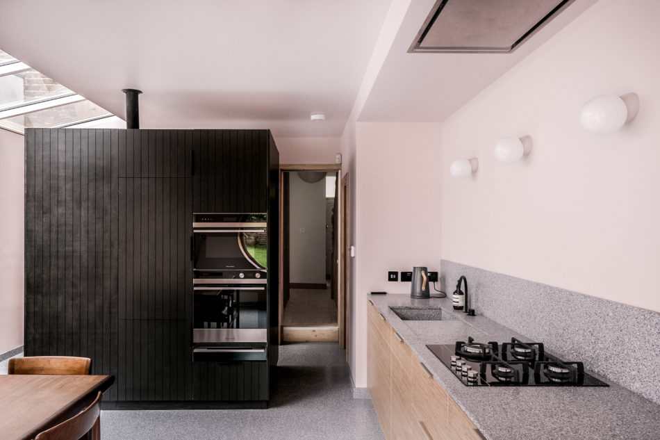 The main storage unit in the kitchen