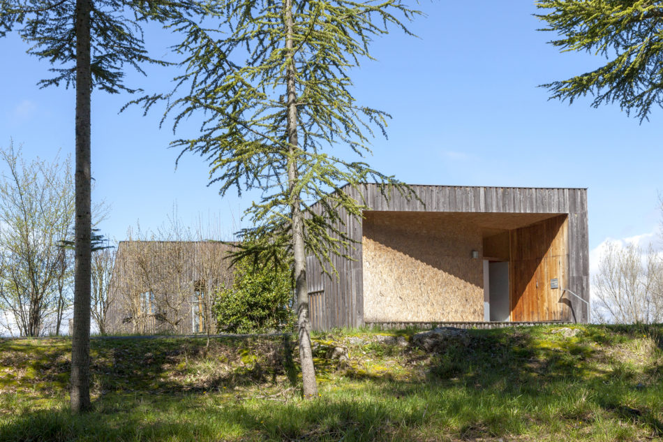 Local wood was used for the cladding