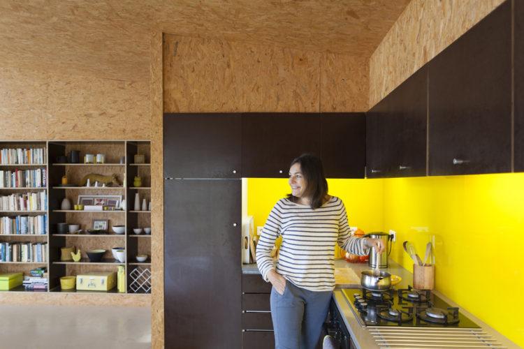 Architect Vicky Thornton in her kitchen