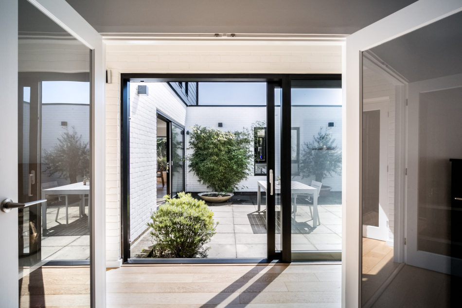 the house is arranged around a courtyard