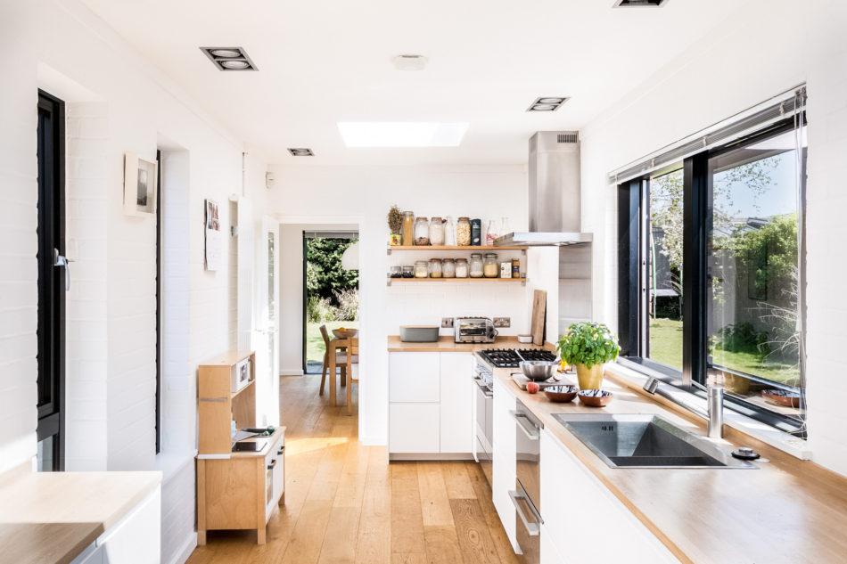 the family's kitchen