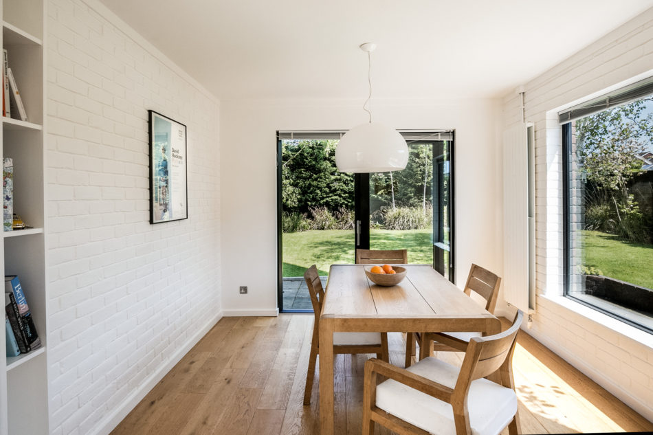 the light-filled dining room