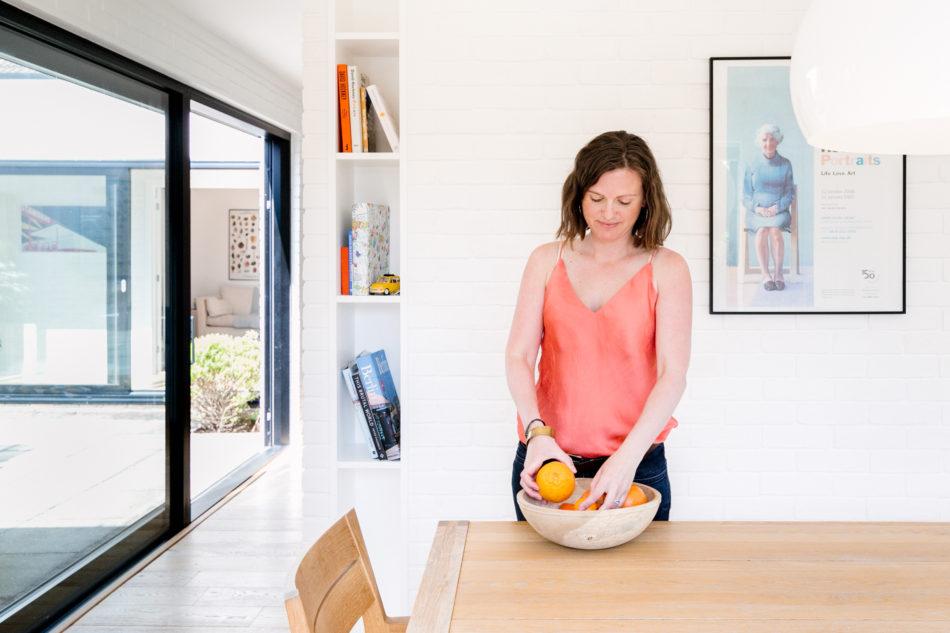 Kim in her dining room