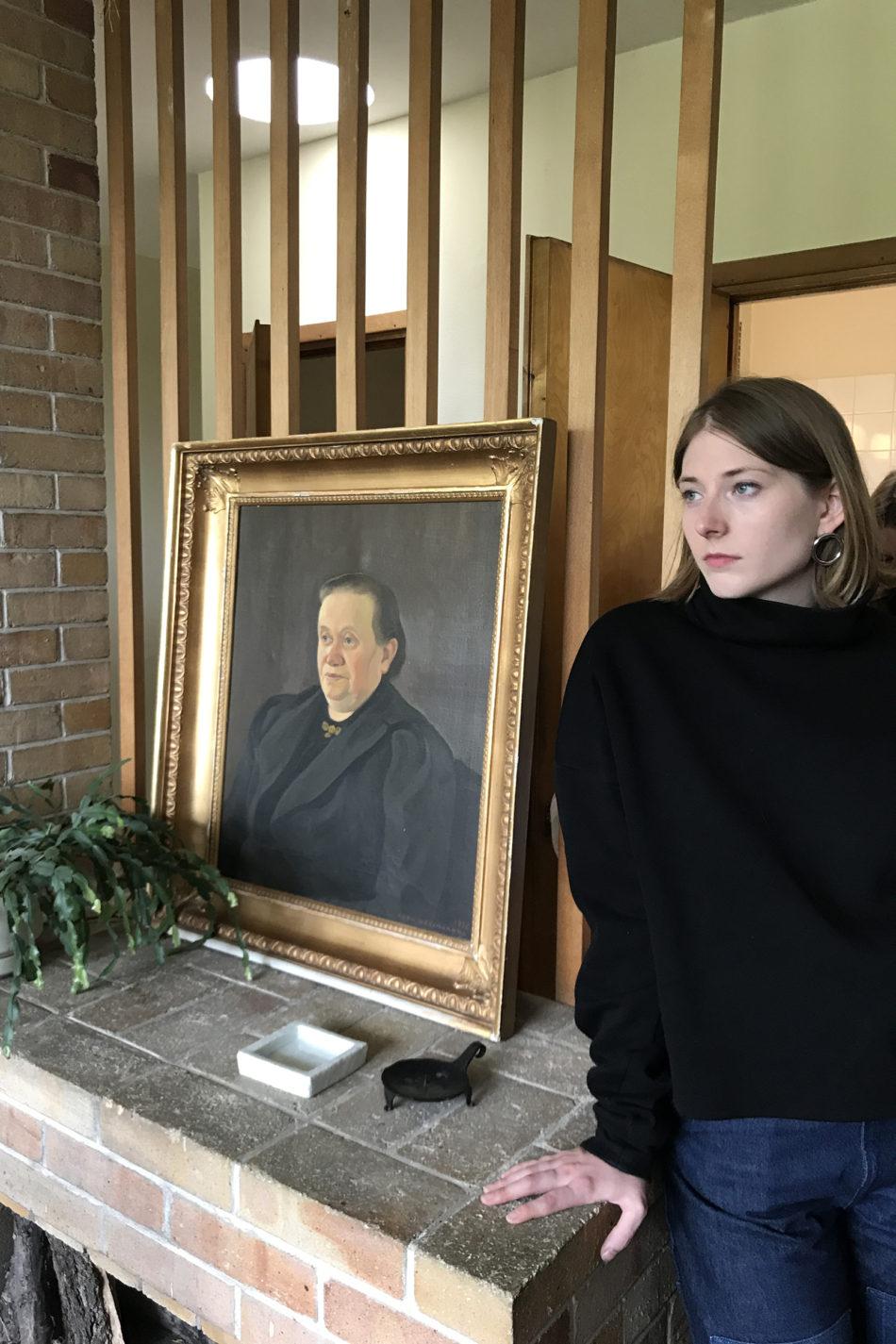 Olivia Quirke at Aalto's studio