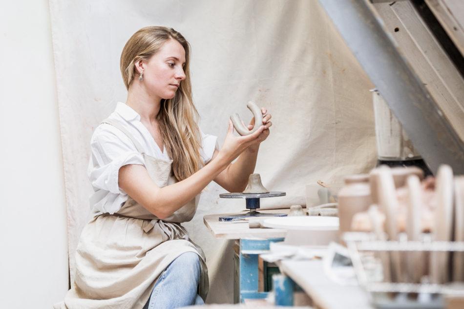 designer Olivia Fiddes moving-in box