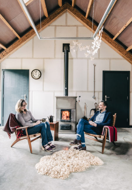 My Modern House: artist Helen and architect Niall Maxwell decorate their contemporary barn for Christmas in rural Wales